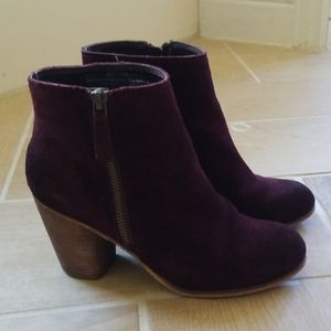Nordstrom BP deep purple booties